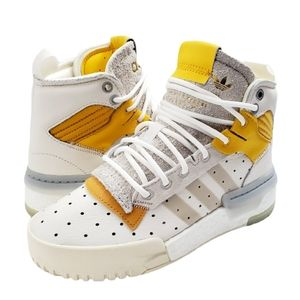 🆕 Adidas Rivalry RM White Mustard Sneakers